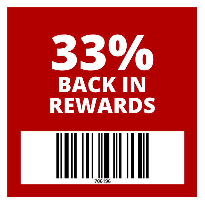 20% back rewards on qualifying purchase