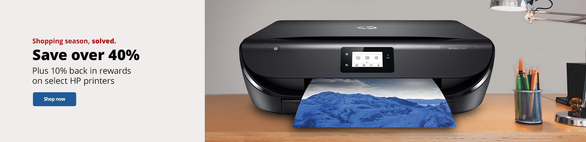 Save over 40% PLUS 10% Back In Rewards on select HP Printers