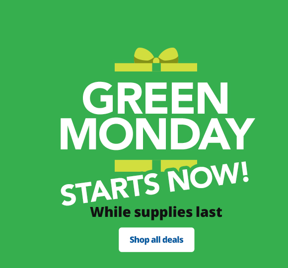 Green Monday Starts NOW!