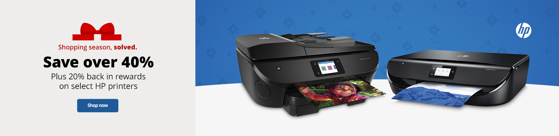Save Over 40% off select Plus 20% back in rewards on select HP printers