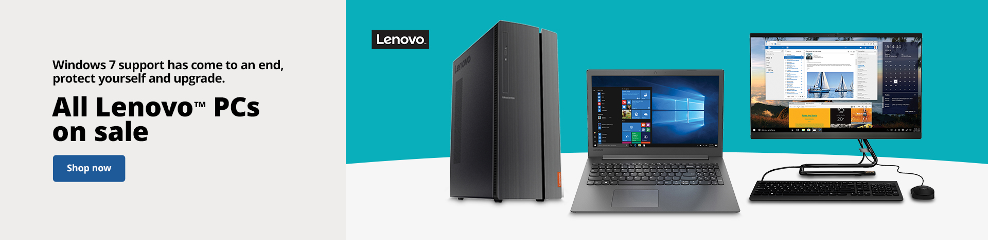 Windows 7 support has come to an end, protect yourself and upgrade | All Lenovo™ PCs on sale