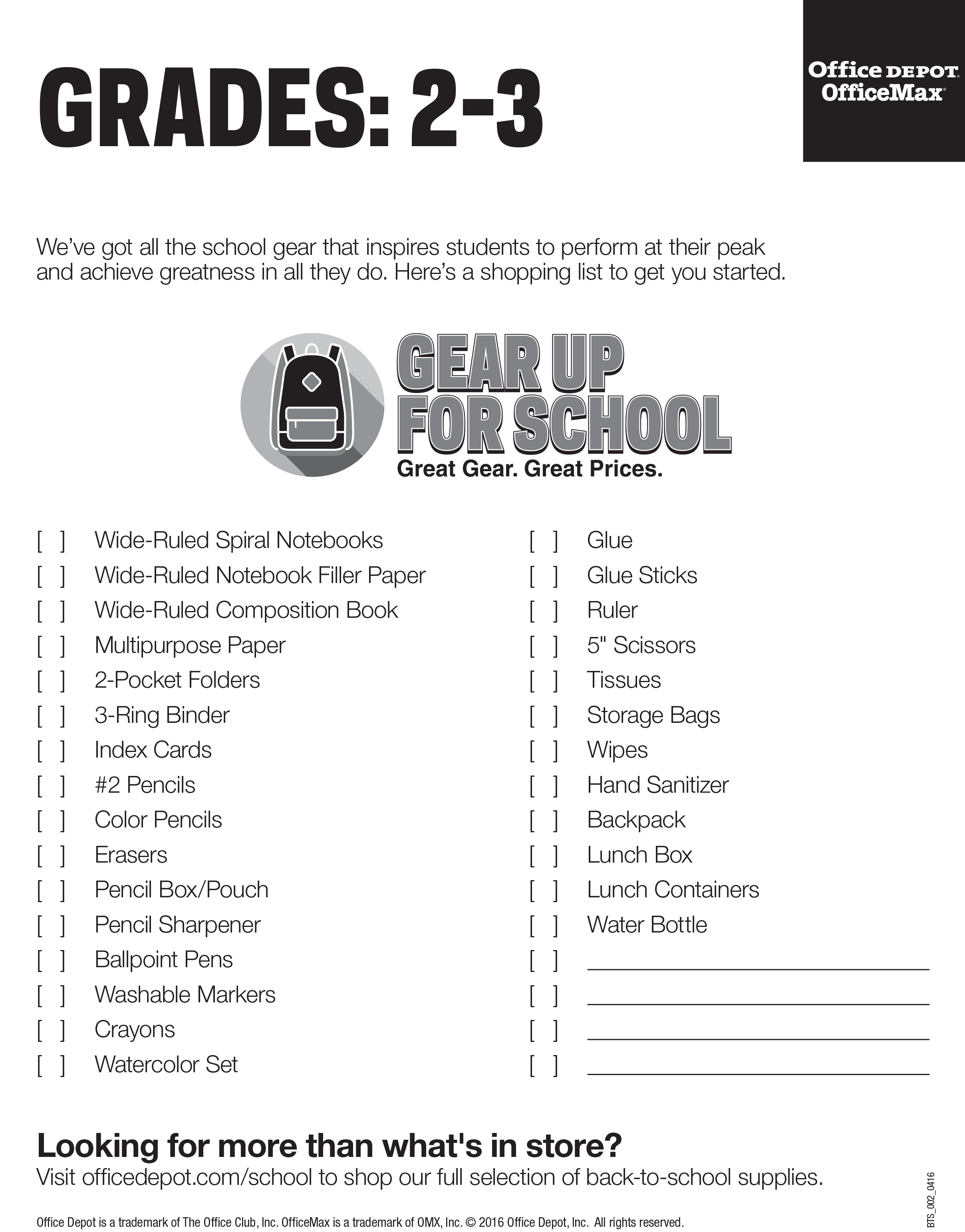Grade 2   3 Jpg  Printable Office Supply List