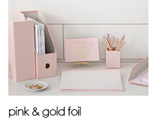 See Jane Work: Pink & Gold Foil Collection