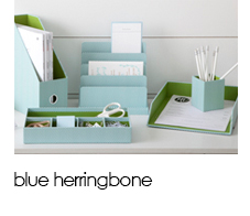 See Jane Work: Blue Herringbone Collection