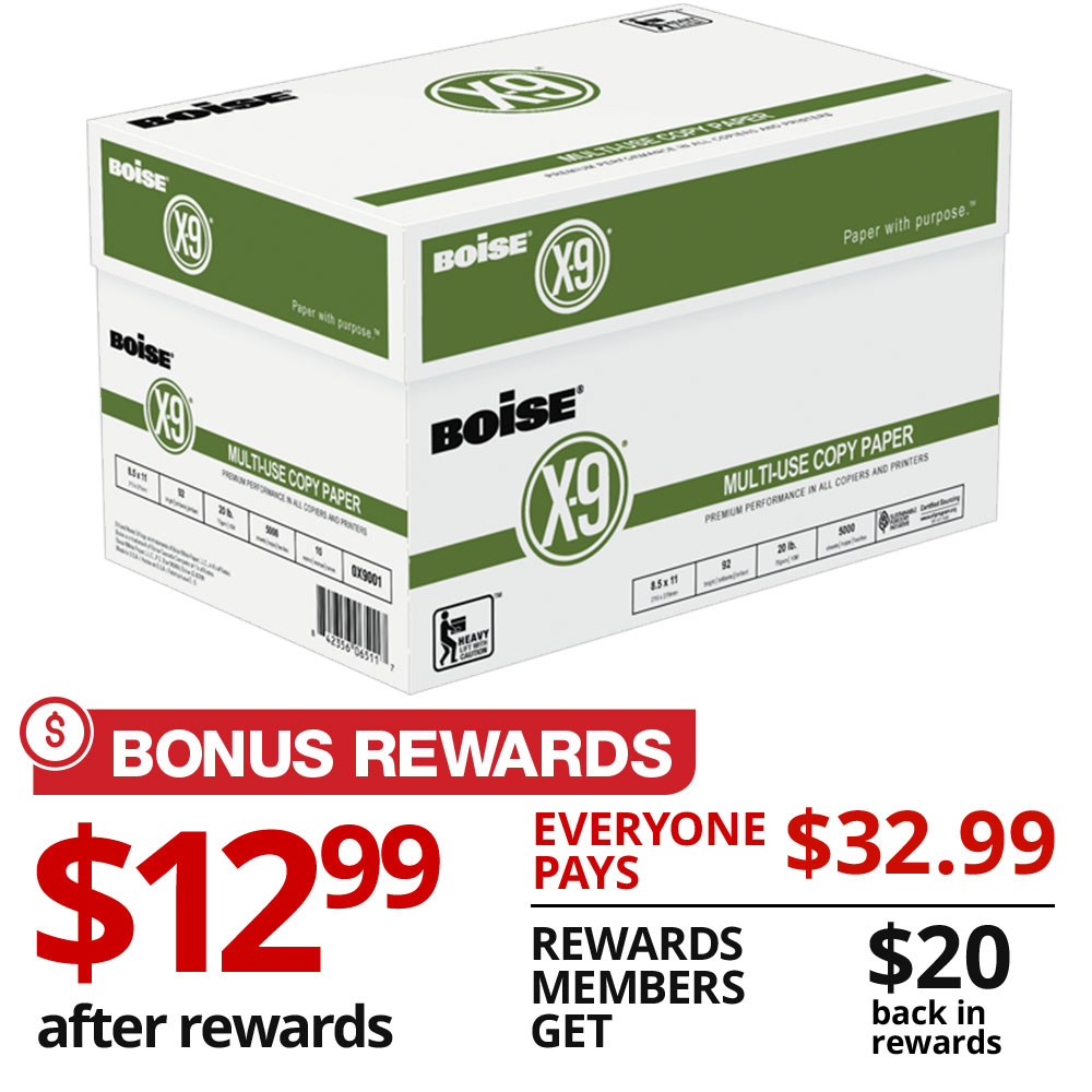 BONUS REWARDS $12.99 after rewards EVERYONE PAYS $32.99
