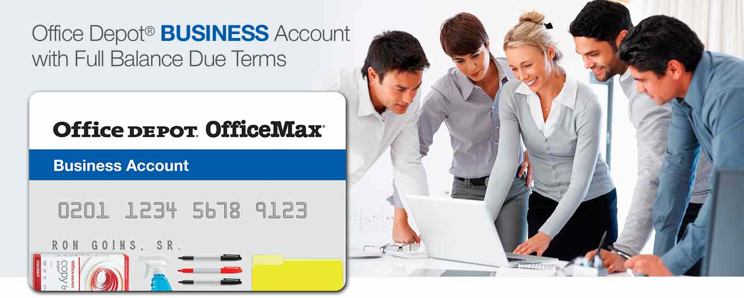 Office depot services register new product - Office Depot Business Credit Account With Full Balance Due Terms