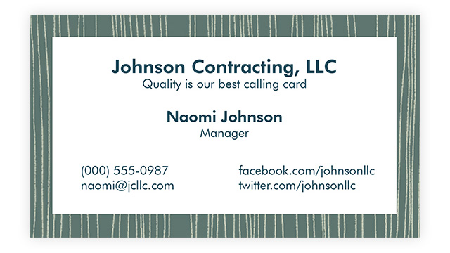 Tailor Your Card-Business Card Etiquette 1