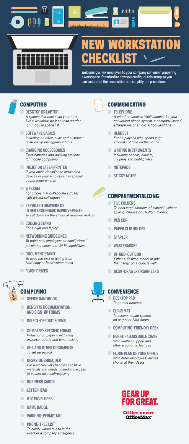 New Workstation Checklist Infographic