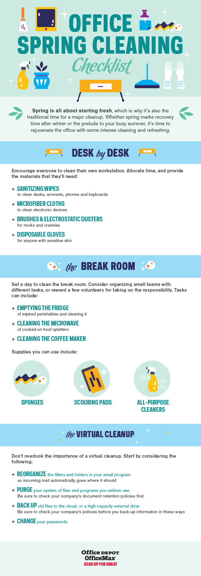 Spring Cleaning Checklist office spring cleaning checklist