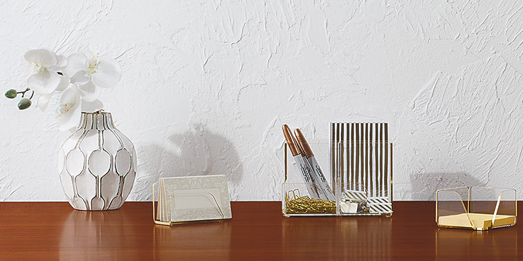 Accomplish Big Things in a Small Home Office With Handy Desk Organizers