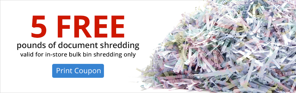 5 FREE pounds of document shredding