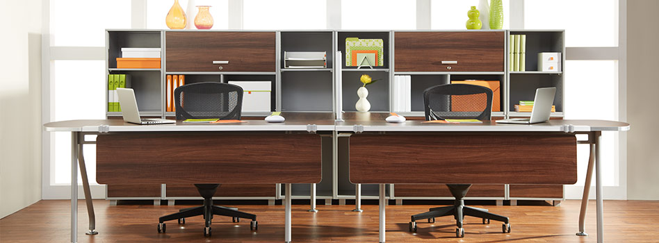 Dual Workstation Home Office Furniture