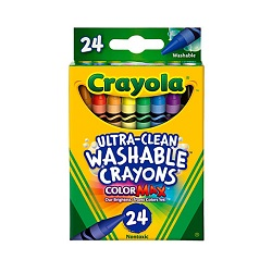 Crayola Ultra Clean Washable Crayons 24ct