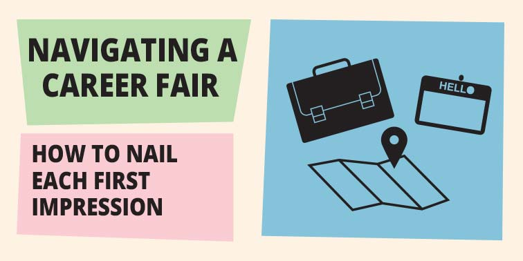 Navigating a Career Fair: How to Nail Each First Impression - Infographic
