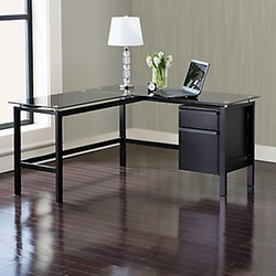 Find The Best Desk For You Office Depot Officemax Rh Officedepot Com Black Glass  Top Desk