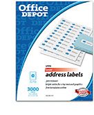 Office supplies furniture technology at office depot for Office depot address label template