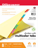 Divider templates for Office depot divider templates