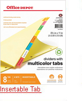 Template For Office Depot 5 Tab Dividers